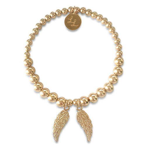 Gold Dominque Angel Wings Bracelet