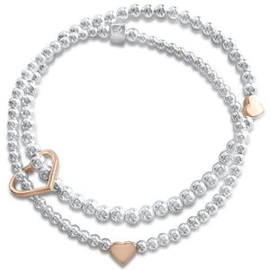 Joy with Rose Gold Hearts Bracelet