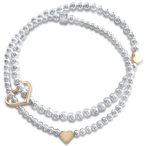 Joy with Yellow Gold Hearts Bracelet