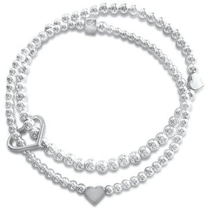 Joy Hearts Bracelet in Sterling Silver