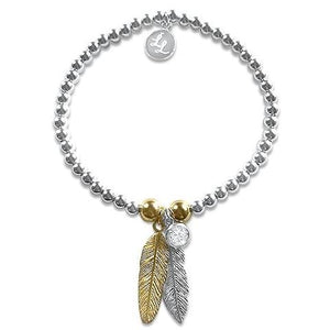 Julie Gold Feather Bracelet
