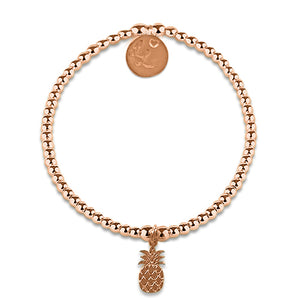 Little LL Rose Gold Pineapple Bracelet