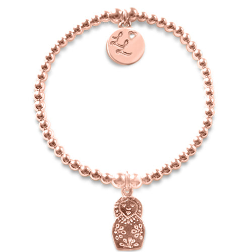 Little LL Rose Gold Russian Doll Bracelet