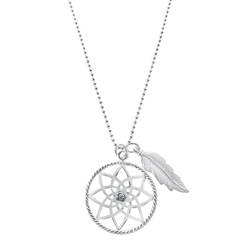 Misty Dreamcatcher Necklace
