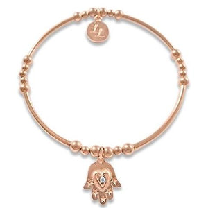 Rose Gold Haley Hamsa Hand Bracelet