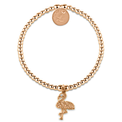 Little LL Rose Gold Flamingo Bracelet