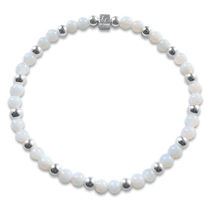 White Beaded Camilla Bracelet