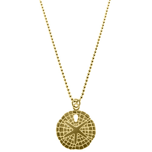 Yellow Gold Saffie Sand Dollar Necklace