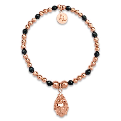 Lana Buddha With Rose Gold & Black