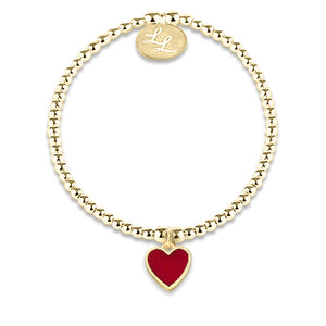 Melody Yellow Gold Red Heart