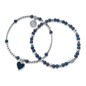Melody Navy Heart 2 Stack