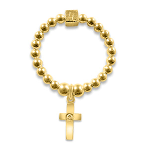 Gold Cross Stacking Ring