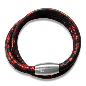 Rosie Black & Red Leopard Leather 2 Wrap