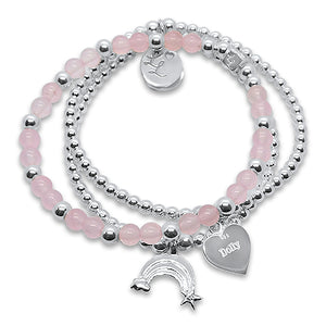 Little LL Dolly Pink & Silver Stack