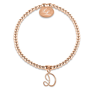 Maisie Initial Bracelet In Rose Gold