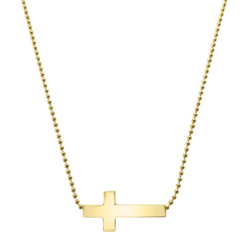 Gold Delilah Cross Necklace