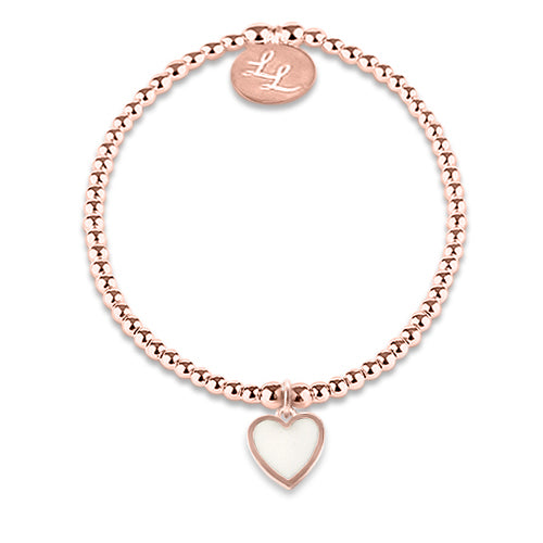 Edith Rose Gold White Heart