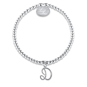Maisie Initial Bracelet Silver