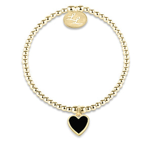 Melody Yellow Gold Black Heart