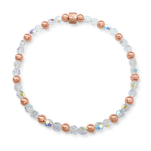 Agatha Crystal with Rose Gold