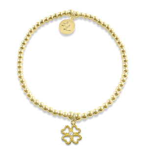 Edith Yellow Gold Four Leaf Clover