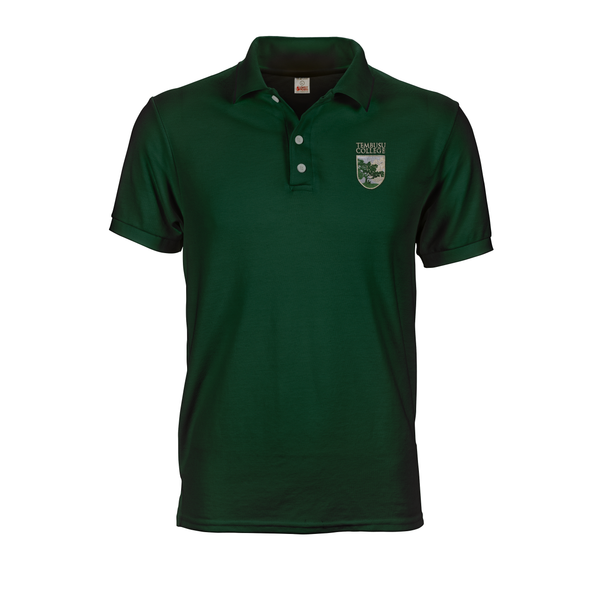 Dark Green polo tee shirt with A6 Tembusu logo embroidery