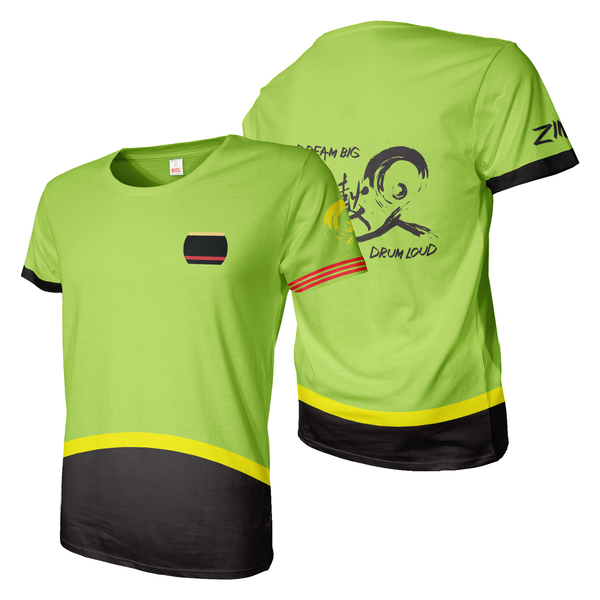 Black and Green Dragonboat Team Jersey dye sublimation print tee shirt