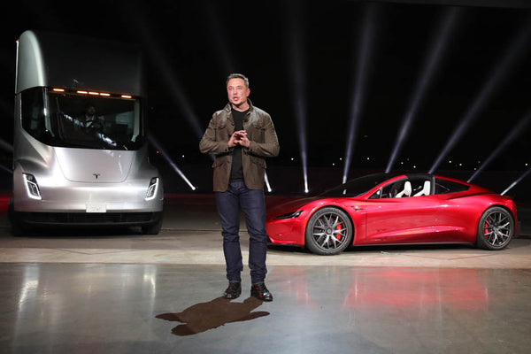 Tesla CEO Elon Musk unveils a surprise new auto