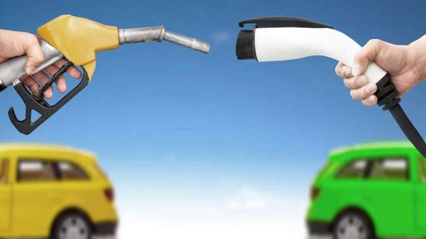 Gas pump versus Charging cable