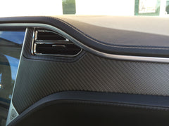 Tesla Model S Accent-I carbon fiber interior dash trim appliqué kit