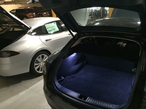 Tesla Model S Elluminer trunk lighting package