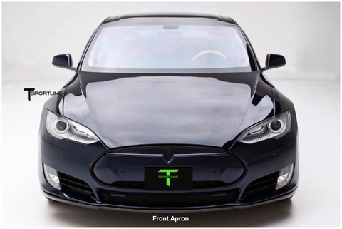 Tesla Model S Carbon Fiber front apron Sports Package