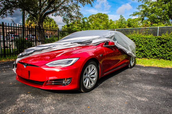 And be sure your gorgeous Tesla is protected against the elements when parked outside with our Car Cover.