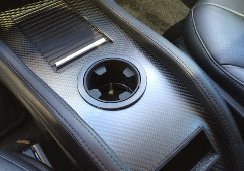 Tesla Model S Accent-I custom cci carbon fiber interior dash trim appliqué kit
