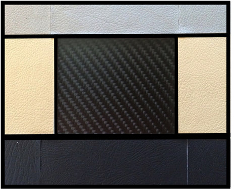 Tesla Model S Accent-I carbon fiber interior dash trim appliqué kit color chart
