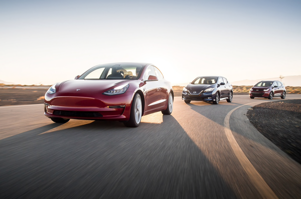 The new generation of EVs: Model 3, Bolt and LEAF compared