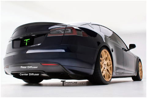 Tesla Model S Carbon Fiber Sports Package rear diffuser