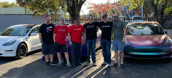 Event Recap: Tesla owners indulge in some 'cars and coffee' with