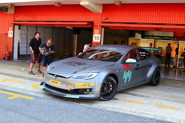An Up-Close Look At The First, Official Race-Ready Tesla