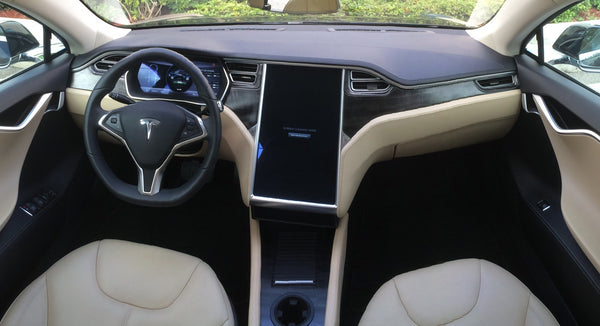 Tesla Model S Accent-I greywoodinterior dash trim appliqué kit