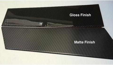 Tesla Model S gloss/matte carbon fiber finishes