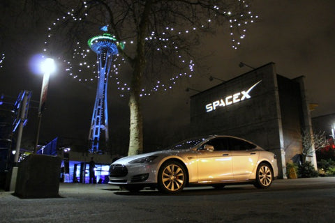 tesla model s spaceX
