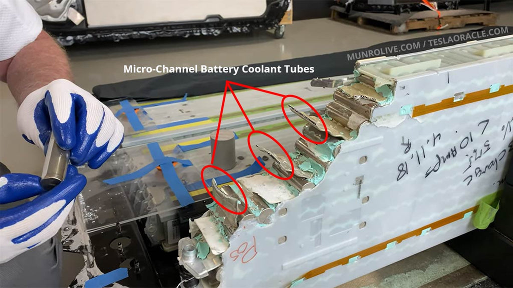 2170  battery pack cooling channels.