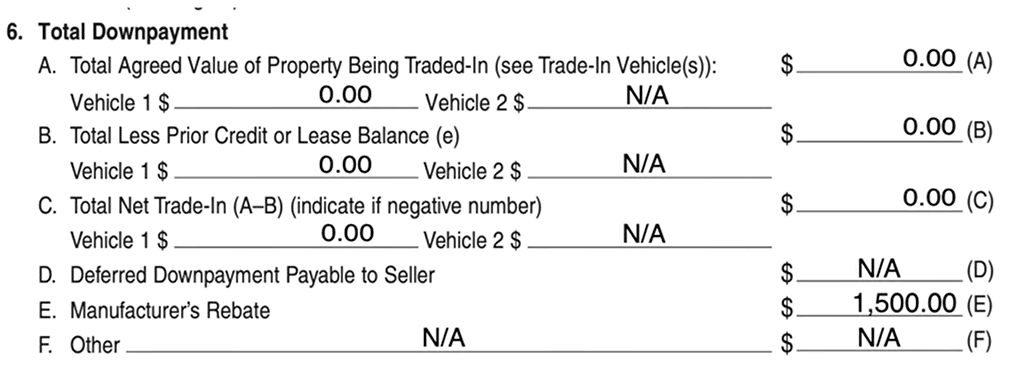 Copy of a Tesla Model 3 purchase order with $1,500 California Clean Fuel Reward.