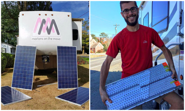 Can you power an RV on solar energy and a Tesla battery