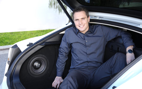 tesla model s sound system nvx founder and president nathaniel victor in his model s