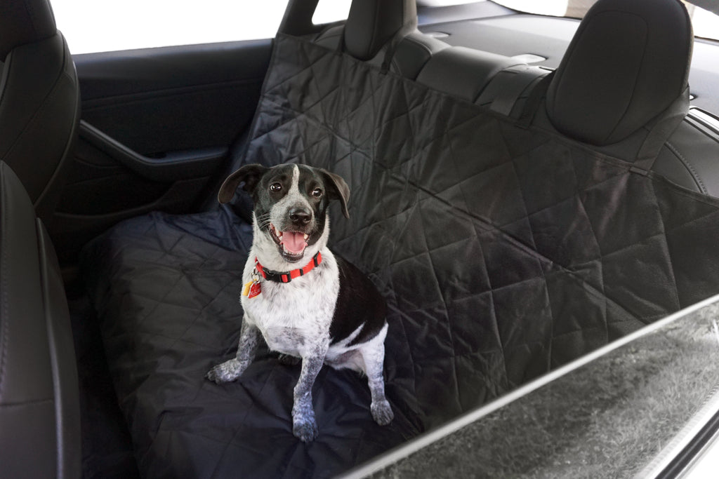 Car Seat Cover with Hammock for Pets,Heavy Duty Scratch Proof Car Trunk Pet Cargo Cover Pet Back Seat Covers for Tesla Model S Model 3
