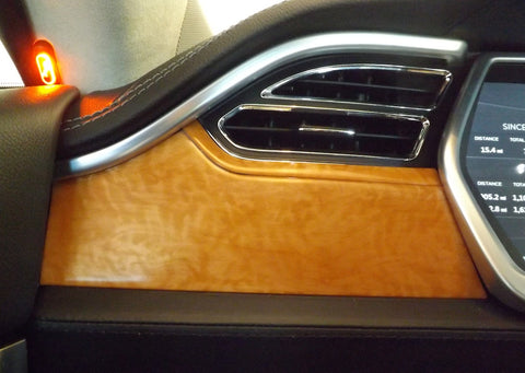 Tesla Model S Accent-I sycamore burl interior dash trim appliqué kit