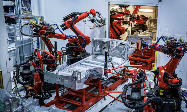 an inside look at the tesla fremont factory production line video