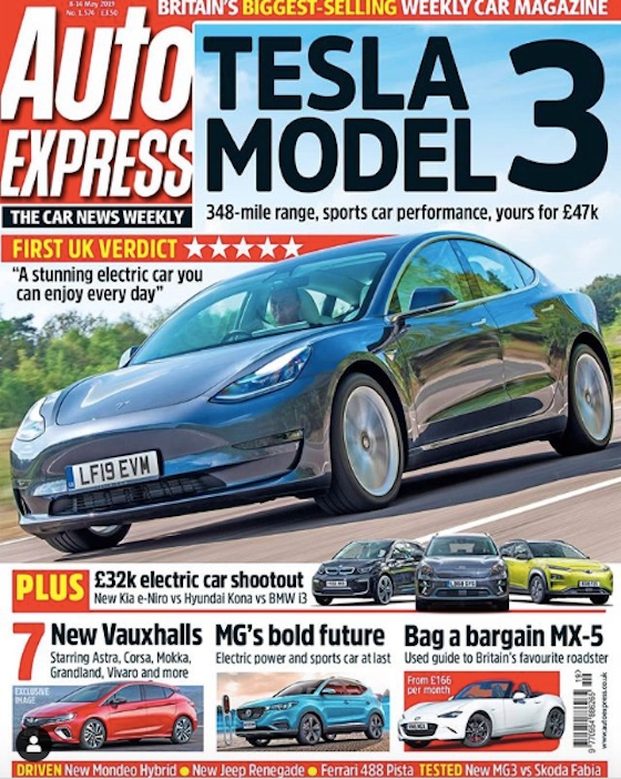 As Tesla's Model 3 arrives in the UK, Auto Express weighs in
